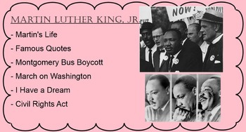 Martin Luther King Jr. Smartboard Smart Notebook Presentation
