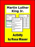 Martin Luther King, Jr. Task Cards and Worksheets Activity