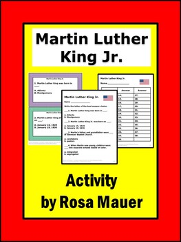 I Am Martin Luther King Social Studies Black History Month