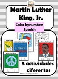 Martin Luther King, Jr. Color by number Spanish