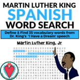 Spanish Martin Luther King Jr WORD SEARCH - MLK Day