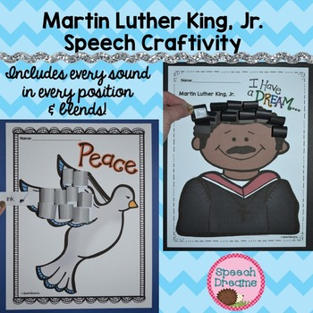 Martin Luther King Jr. Speech Therapy Crafts