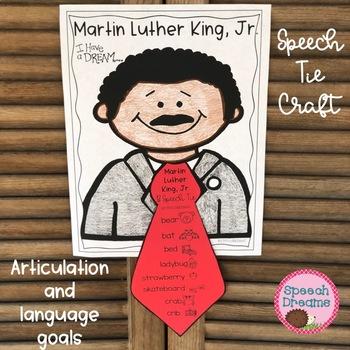 Martin Luther King, Jr. Speech Craft {language & articulation} MLK day