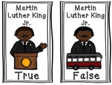 Martin Luther King Jr. TRUE AND FALSE POCKET CHART ACTIVITY