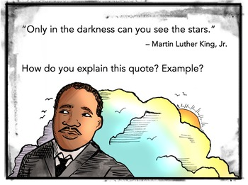 Martin Luther King Jr. Task Card/Journal Prompts