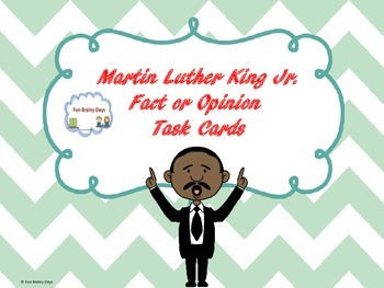 Martin Luther King Jr. Task Cards