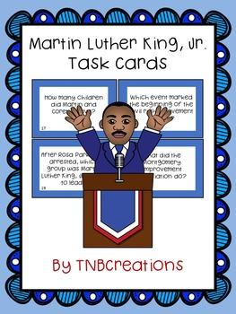 Martin Luther King, Jr. Task Cards