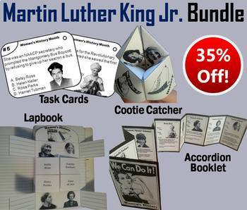 Martin Luther King Jr. Task Cards and Activities Bundle
