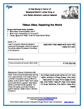 Martin Luther King, Jr. Text Study