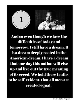 ASL Martin Luther King Jr. Thematic Unit