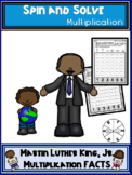 Martin Luther King Jr Theme Multiplication Spin and Solve