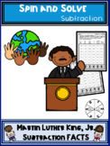 Martin Luther King Jr Theme Subtraction Spin and Solve Mat