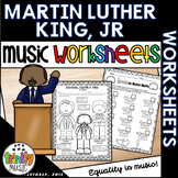 Martin Luther King, Jr. Themed Music Worksheets