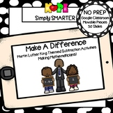 Martin Luther King, Jr., Themed Subtraction Activities For GOOGLE CLASSROOM