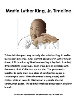 Martin Luther King Jr - Timeline Activity