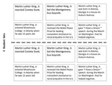 Martin Luther King Jr Timeline Cut and Paste