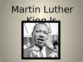Martin Luther King Jr. Timeline PPT