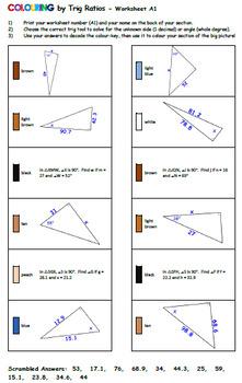Martin Luther King Jr. - Trig Ratios Collaborative Math Mosaic (20 Sheets)