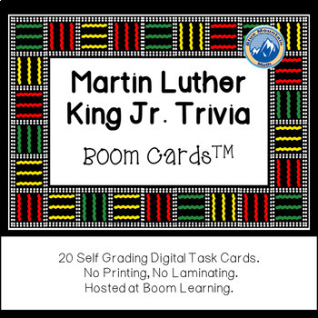 Martin Luther King Jr. Trivia Boom Cards--Digital Task Cards