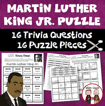Martin Luther King Jr Trivia Puzzle By Wise Guys Tpt
