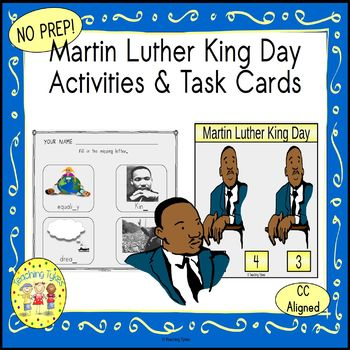 Martin Luther King Day Worksheets Activities Games Printables and More