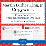 Martin Luther King, Jr. Unit - Copywork - Cursive - Handwriting