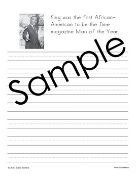 Martin Luther King, Jr. Unit - Copywork - Print and Cursive - Handwriting