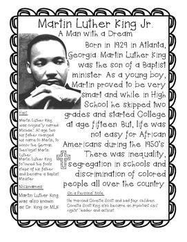 Martin Luther King Jr Unit of Study