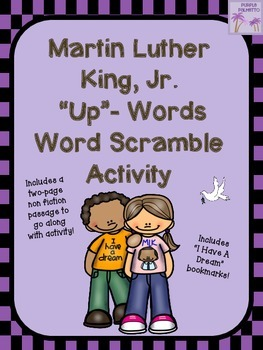 "Martin Luther King, Jr. ""Up""-Words Word Scramble Activity"