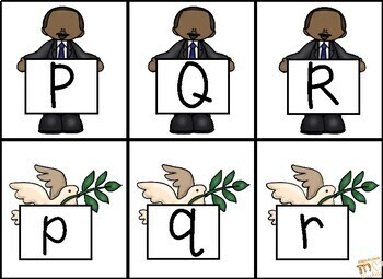 Martin Luther King Jr. Uppercase and Lowercase Letters Match