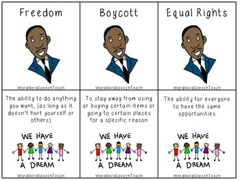 Martin Luther King Jr Vocabulary