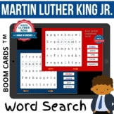 Black History Month MARTIN LUTHER KING Vocabulary Word Search Game - BOOM CARDS