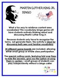 Martin Luther King Jr. Vocabulary Bingo