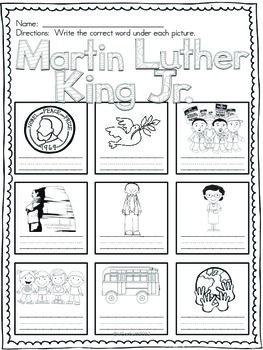 Martin Luther King Jr. Vocabulary Cards