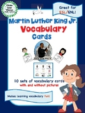 Martin Luther King Jr. Vocabulary Cards - Great for ESL/ENL