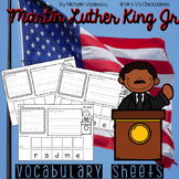 Black History Month: Martin Luther King Jr Vocabulary Sheets