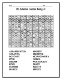 Martin Luther King Jr. Vocabulary Word Search