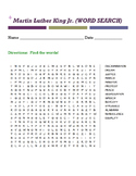 Martin Luther King Jr. (WORD SEARCH)