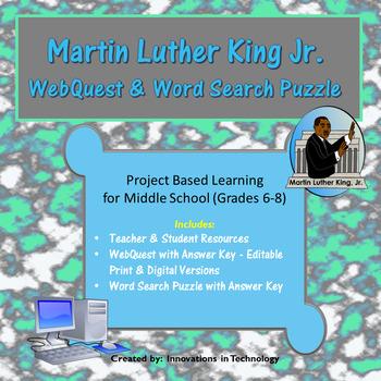 Martin Luther King Jr. WebQuest (Internet Scavenger Hunt)