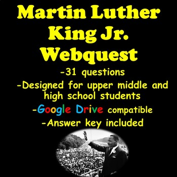 Martin Luther King Jr. Webquest