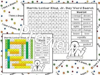 Martin Luther King, Jr. - Word Puzzles