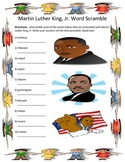 Martin Luther King, Jr. Word Scramble- 10 Words