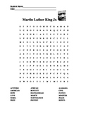 Martin Luther King Jr. Word Search Black History