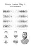Martin Luther King Jr. Word Search & Crossword Puzzle
