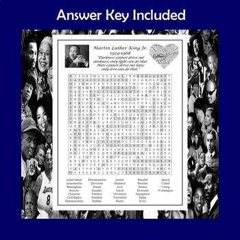 Martin Luther King Jr. Word Search Puzzle