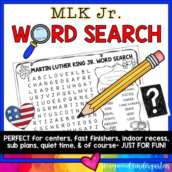 Martin Luther King Jr Word Search Puzzle