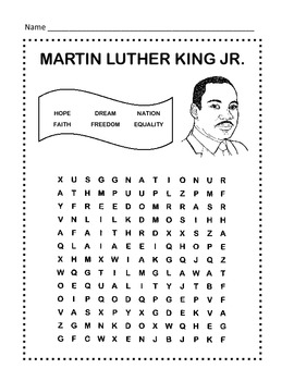 picture about Martin Luther King Word Search Printable named Martin Luther King, Jr. Term Seem Puzzle / 1st Quality