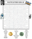 Martin Luther King Jr. Word Search Puzzle PLUS Poster