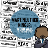 Martin Luther King Jr. Word Wall Cards