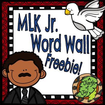 Martin Luther King Jr. Word Wall Freebie!!!